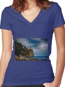 Silver Bay 2 Women's Fitted V-Neck T-Shirt
