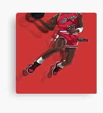 "Jumpman ""23"" Red Canvas Print"
