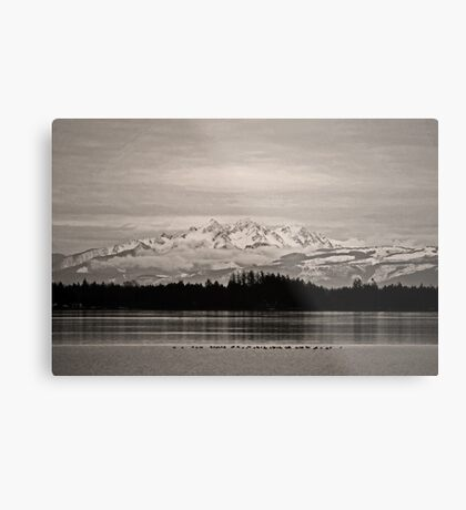 the twin sisters, wa, usa 'old school' Metal Print