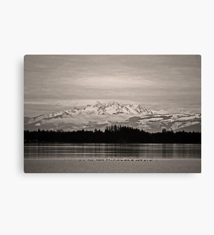 the twin sisters, wa, usa 'old school' Canvas Print
