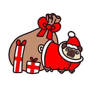 Weihnachtsweihnachtsmann Pug von SaradaBoru