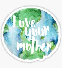Pegatina Ama a tu madre tierra