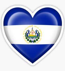 El Salvador Heart Flag Sticker