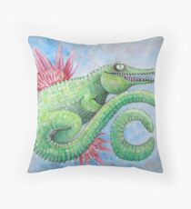 C is for crocodile  Throw Pillow