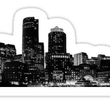 boston sky line Sticker