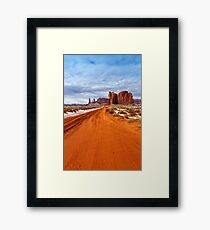 The Long Way Framed Print