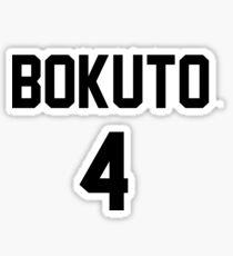 Haikyuu!! Jersey Bokuto Number 4 (Fukurodani) Sticker