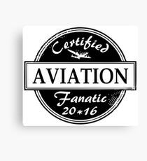 Aviation Fanatic Canvas Print