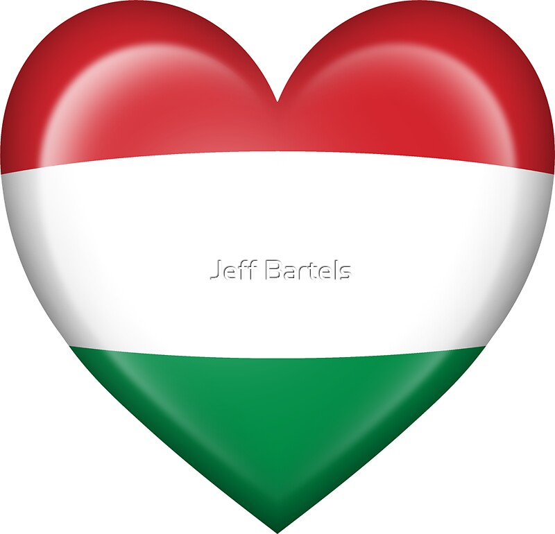 Hungarian heart flag by jeff bartels