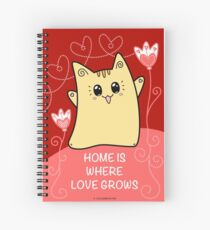 Cute Kawaii Cat Neko Yoko - Home of Love Spiral Notebook