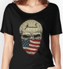 Skulls - i am the infidel allah warned you about 2 Women's Relaxed Fit T-Shirt