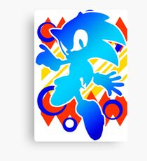 Abstract 90's Sonic Canvas Print