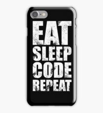 Eat Sleep Code Repeat (Software Engineer/Programmer/App Developer) iPhone Case/Skin