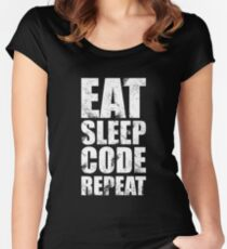 Eat Sleep Code Repeat (Software Engineer/Programmer/App Developer) Women's Fitted Scoop T-Shirt