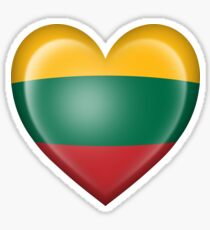 Lithuanian Heart Flag Sticker