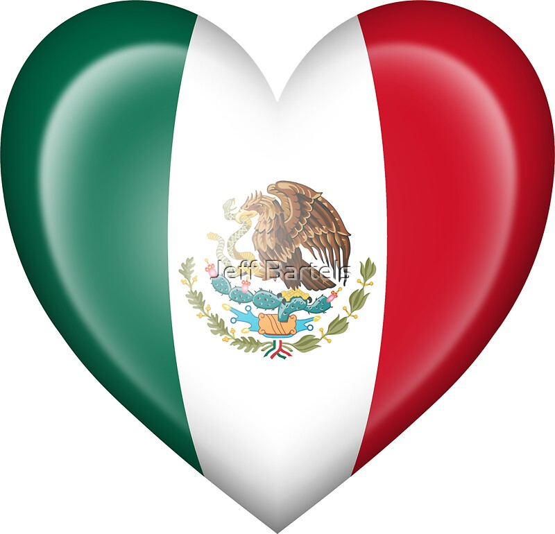 Quot Mexican Heart Flag Quot Stickers By Jeff Bartels Redbubble