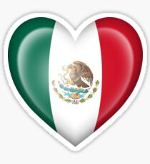 Mexican Flag Heart Stickers | Redbubble