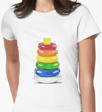 Retro stacking rings. Women's Fitted T-Shirt
