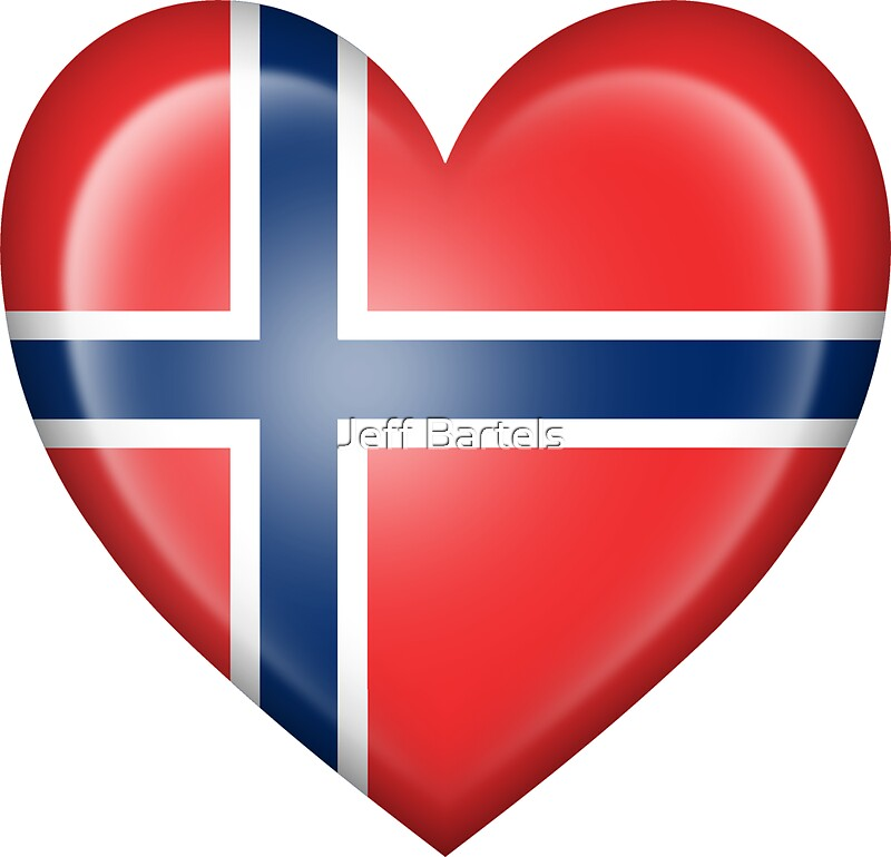 Quot Norwegian Heart Flag Quot Stickers By Jeff Bartels Redbubble