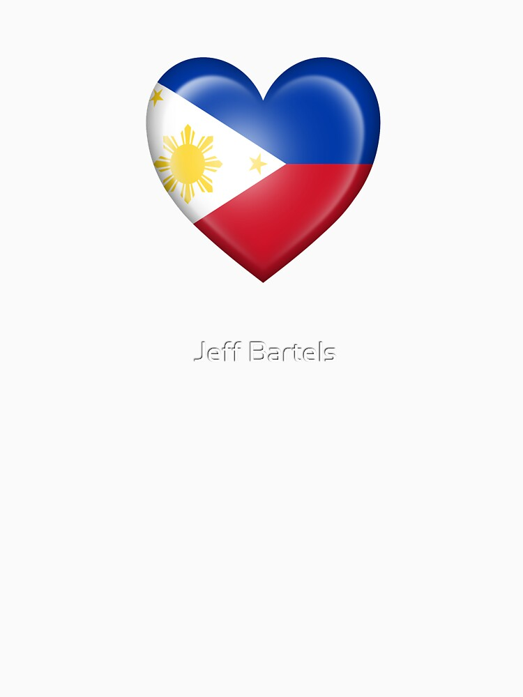 Filipino Heart Flag Womens T Shirt By Jeffbartels Redbubble
