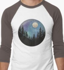 Forest Nature Hiking Travel Wanderlust Galaxy Moon Hipster Camping Print T-Shirt