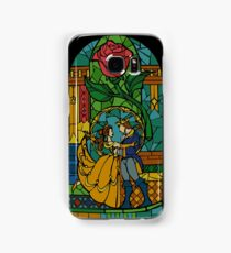 Beauty and The Beast - Stained Glass Samsung Galaxy Case/Skin