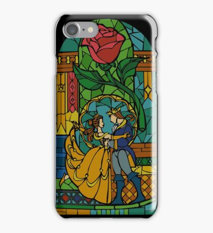 Beauty and The Beast - Stained Glass iPhone Case/Skin