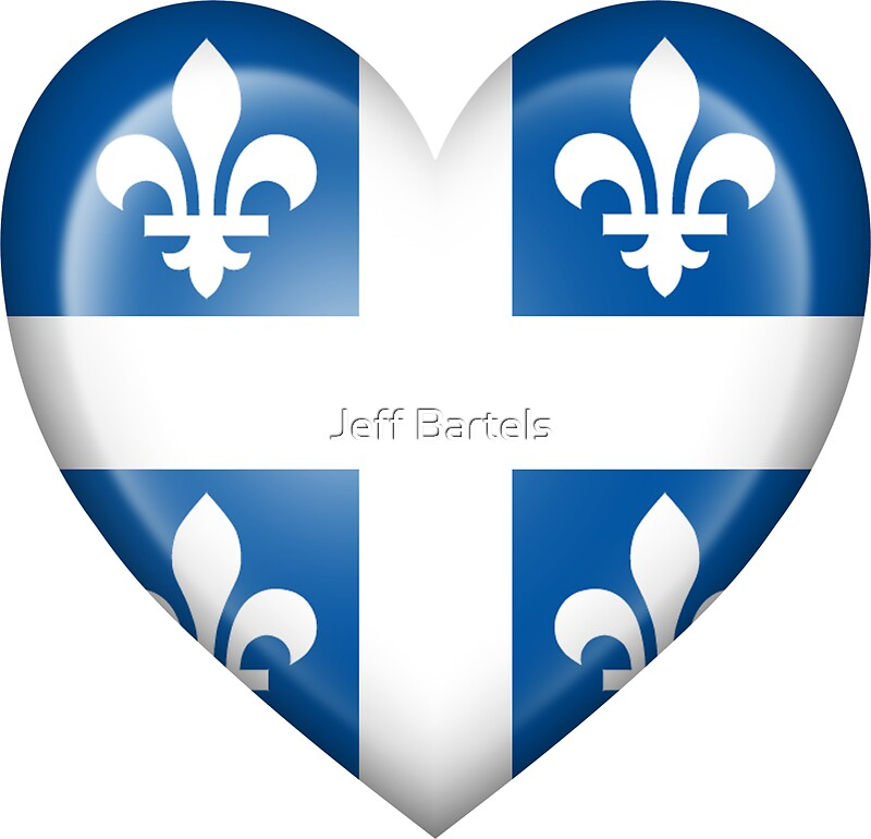 Quot Quebec Heart Flag Quot Stickers By Jeff Bartels Redbubble