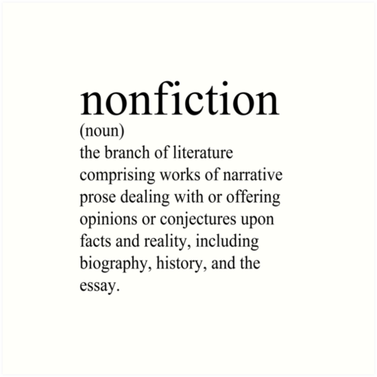 """Non-Fiction Definition"" Art Prints by literarydreamrs ..."