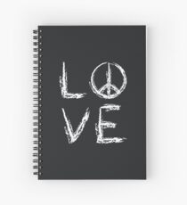 Peace and Love Spiral Notebook