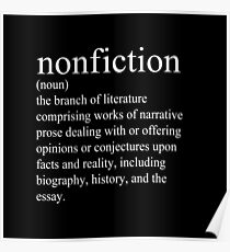 Non-Fiction Definition Poster