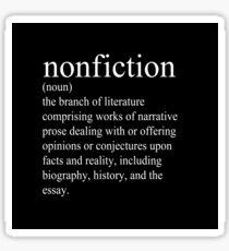 Non-Fiction Definition Sticker