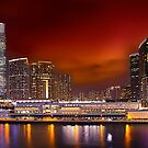 Red Sky over Kowloon by Delfino