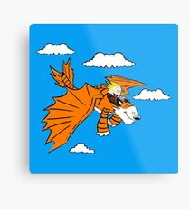 How to Train your Calvin and Hobbes Metal Print
