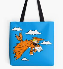 How to Train your Calvin and Hobbes Tote Bag