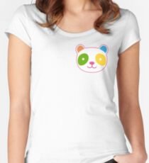 Cute Rainbow Panda Women's Fitted Scoop T-Shirt