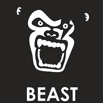 Instinct - Black & White Gorilla Beast by XOOXOO