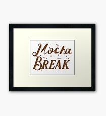 Mocha Break Framed Print