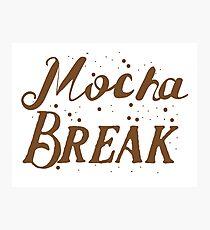 Mocha Break Photographic Print