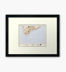 USGS TOPO Map Hawaii HI Hawaii South 349922 1954 250000 Framed Print