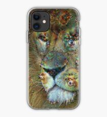 Dream Creatures, Lion 001, DeepDream iPhone Case