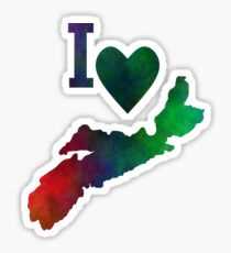 I Love Nova Scotia Sticker
