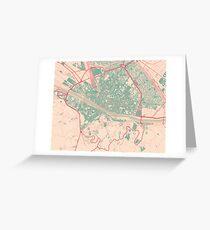 Firenze Map (Springtime) Greeting Card