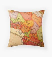 North Africa map Throw Pillow