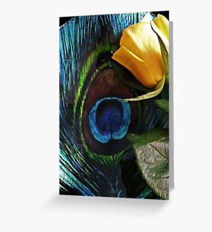 Peacock's Rose Greeting Card