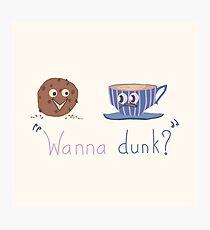 Wanna dunk? Photographic Print