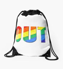 Out of the Closet Drawstring Bag