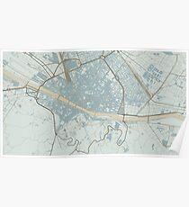 Firenze Map (Winter) Poster