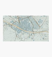 Firenze Map (Winter) Photographic Print