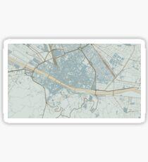 Firenze Map (Winter) Sticker